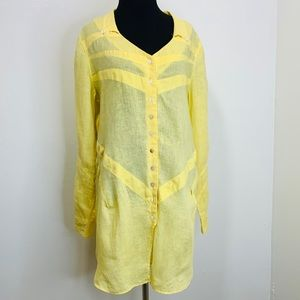 SOFT SURROUNDINGS TUNICS COLOR YELLOW SIZE M